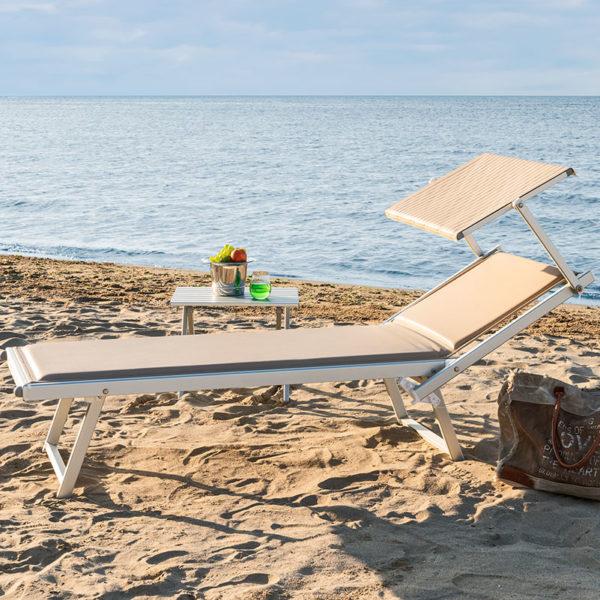 Prezzi Lettini Da Spiaggia.Imbottito Lettino Prendisole Da Spiaggia