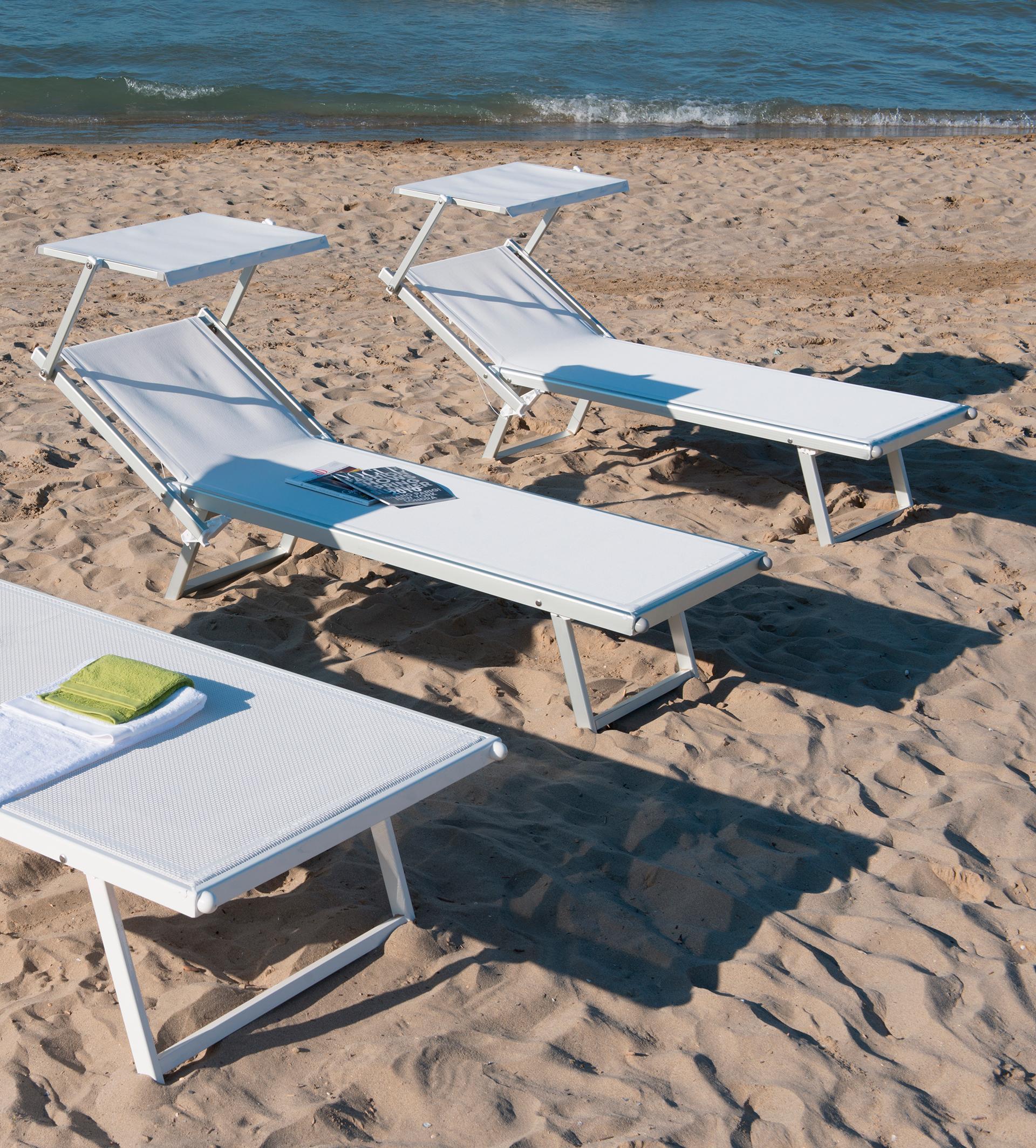 Lettini Da Spiaggia Leggeri.Professional Lettino Per La Spiaggia
